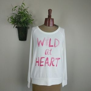 Chaser Wild At Heart Jumper Sweatshirt Floral M